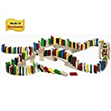 HABA Wooden Domino Race - 263 Piece Set with Bridge, Bell & Staircase (Made in Germany) by HABA