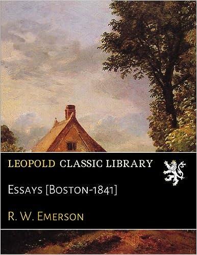 Download online Essays [Boston-1841] PDF