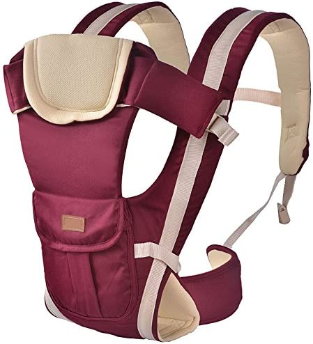 ThreeH Baby Carrier Soft Organic Fabric Cotton /& Polyester 3 Carry Positions BC08,Red