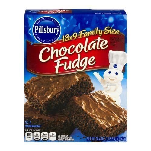 Fat Free Fudge - Pillsbury Chocolate Fudge Brownie Mix 18.4 Oz (Pack of 6)