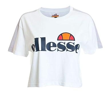 dfdb157a ellesse Women's Badia Crop T-Shirt 14 White: Amazon.co.uk: Clothing
