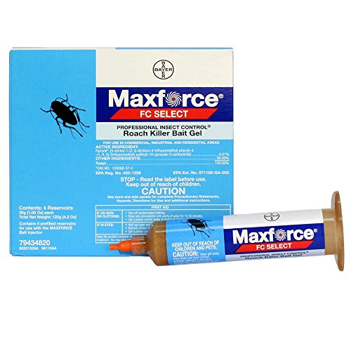 Maxforce FC Select Roach Killer Bait Gel - 1 Box (4 x 30 Gram Tubes)