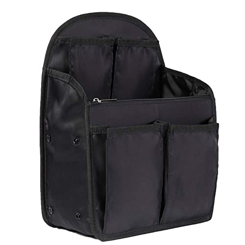 0a196738fd45 14 Pockets Backpack Insert Organizer, Ultra-light Purse Organizer