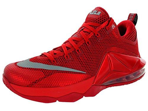 Nike Lebron XII low Uomo Rosso Scarpe ginnastica 42,5 EU Nuovo