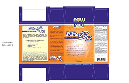 NOW B-12 Instant Energy,75-Packets