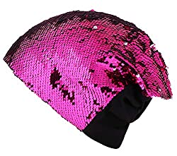 Unisex Adult Reversible Sequin Beanie