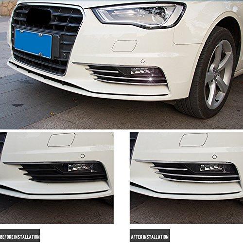 YUZHONGTIAN Stainless Steel Front Fog Light Lamp Stripe Cover Trim 6pcs For A3 8V Sedan 2012-2016 Car Accessory