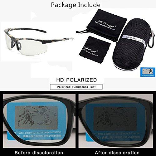 Camo Polarisé soleil de HD Photochromiques Hommes Long Cyclisme Des Keeper lunettes Femmes Lunettes Sports By q1tx68