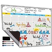 #LightningDeal 93% claimed: Dry Erase Calendar, Fridge Magnetic Calendar, White Board Planner for Refrigerator, Monthly & Weekly Set by Jancosta (MPB11)