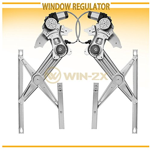 WIN-2X New 2pcs Front Driver & Passenger Side Power Window Regulators & Motors Assemblies Fit 02-08 Dodge Ram 1500 03-09 Ram 2500/3500 10-12 Ram 3500 Cab & Chassis 08-12 Ram 4500/5500 Cab & Chassis (Dodge Ram 3500 Cab Chassis)