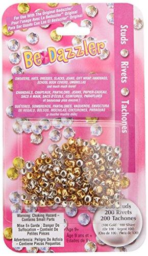 Be Dazzler Stud Refill 200/Pkg-Gold & Silver