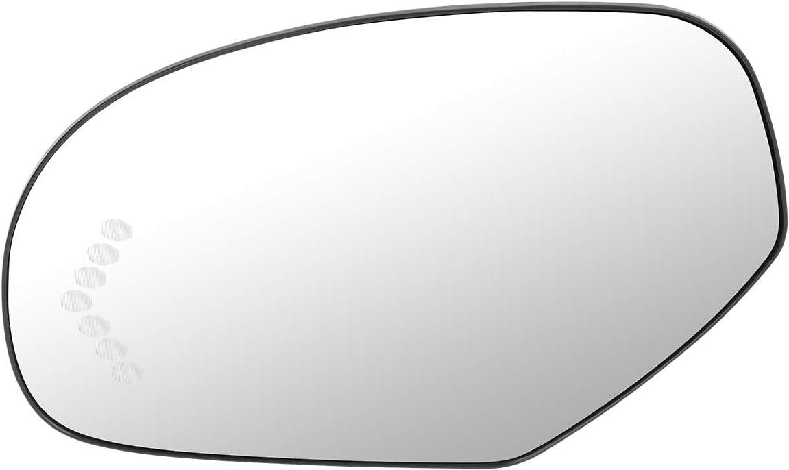 15874992 OE Style Left Heated Mirror Glass Turn Signal Replacement for Silverado Suburban Sierra Tahoe Yukon 07-14