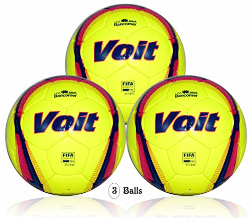 Voit Liga BBVA Bancomer (MX) official match ball (3 balls size 5) FIFA Quality Pro by Voit