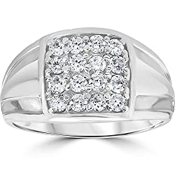 10k White Gold 1 cttw Diamond Ring