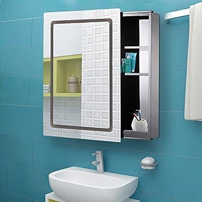Generic o-8-o-4579-o de puerta corredera de baño ighting Ding hacer tira de LED armario bathroo almacenamiento espejo de cristal Espejo moderno NV _ 1008004579-tyqfus32: Amazon.es: Bricolaje y herramientas