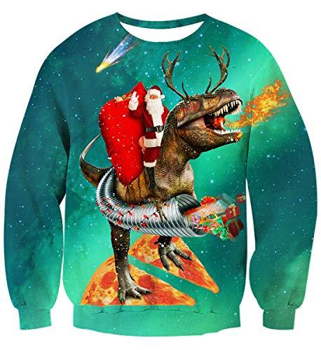 Dinosaurio 1 Sudaderas Hombre Navidad Divertida Aideaone Unisex Sudadera Mujer 0qwf8