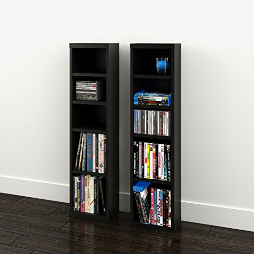 (Sereni-T CD/DVD Towers (2) 211006 from Nexera, Black)