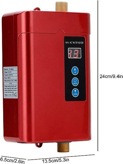 Haushalt 28-55 ℃ Verstellbarer Mini-Durchlauferhitzer Durchlauferhitzer ohne Tank Intelligente Durchlauferhitzer-Heizungsmaschine mit Temperaturanzeige Sorand Durchlauferhitzer Gold