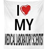 Westlake Art I Heart My Medical Laboratory Scientist - Wall Hanging Tapestry - Sayings Artwork Home Decor Living Room - 68x80 Inch (2001-04FB6)