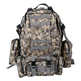 TOOGOO(R) Army Hiking Backpacks Backpack 55L 3D Molle Backpack multifunctional trekking backpack for hiking / sports / travel – with additional pocket ACU color