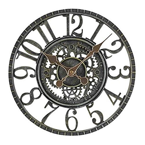 Smart Garden Newby Mechanical Style Rustic Outdoor Garden Clock