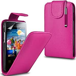 Cerhinu Shelfone Stylish Protective Leather Flip Case Skin Cover Pouch For Samsung Galaxy S2 I9100 + Includes Stylus Pen...