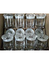 Favor 12 PACK OF APOTHECARY THICK GLASS MEDICAL KITCHEN, HERB, STASH, SPICE JARS, ODOR PROOF AIR TIGHT SUCTION LIDS deliver