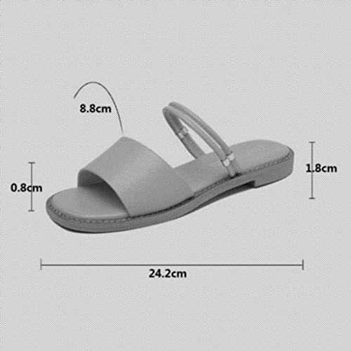 xy Estate Infradito CN38 Freddi Beige 5 Moda spiaggia Mezza dimensioni Sandali Fondo Piatto Scarpe Colore Pantofole Pantofole Beige da e ciabatte Marea Da Spiaggia Femminili UK5 EU38 rrwdqv