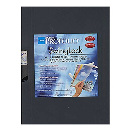 The Original SWINGLOCK Black Art Photo 8x11landscape Presentation Folder by Itoya - 8.5x11