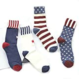 Yeke Couple Socks Womens Girls casual Cotton Colourful Mens socks 4Pairs/lot (L)