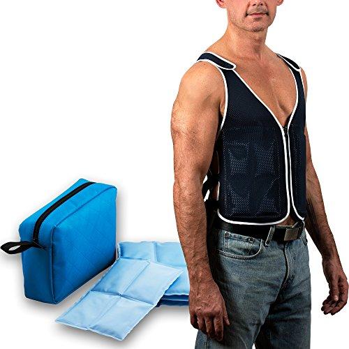 PolarGel Cooling Vest - Our Cool Vest Offers Max Ventilation & Comfort (Navy Blue) (Change Vest Cooling Phase)