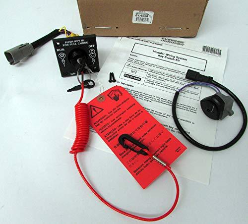 BRP Johnson/Evinrude Single Engine Key Switch Kit 0176408