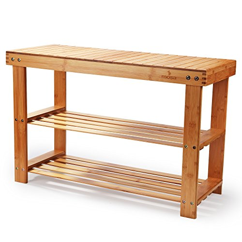(Mosa Natural Bamboo Entryway Bench (27.6
