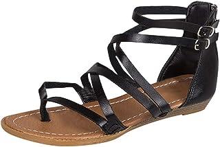 MEIbax Sandali Scarpe Donna Eleganti Basse Piatto Pantofole Estate Flip Flop Bohemia Infradito Scarpe da Spiaggia Donne