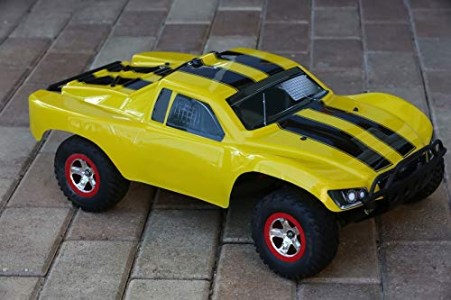 SummitLink Compatible Custom Body Yellow Bumblebee Style Replacement for 1/10 Scale RC Car or Truck (Truck not Included) SS-BEE-03