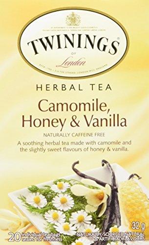 Twinings of London Camomile, Honey & Vanilla Herbal Tea, 20 Count (Pack of 6) Vanilla Honey