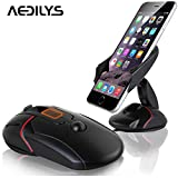 Car Mount, AEDILYS® Mouse Shape Windshield Dashboard Universal , Dashboard Mount Holder and desktop phone holder for iPhone 6s Plus 6s 5s 5c Samsung Galaxy S7 Edge S6 S5 Note 5 4