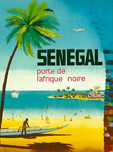 A SLICE IN TIME Senegal porte de afrique noire Africa Vintage African Travel Advertisement Collectible Wall Decor Poster Print. Measures 10 x 13.5 inches