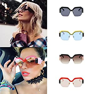 Beautyfine Big Frame Sunglasses Women Vintage Retro UV400 Eyewear Fashion Ladies
