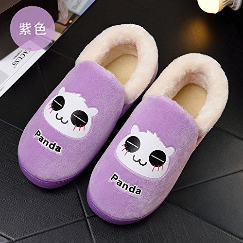 e indossare 37 per Hui tacco per Y in autunno pantofole Viola Bag 35 piedi donne 36 in 34 inverno pantofole x0qaP