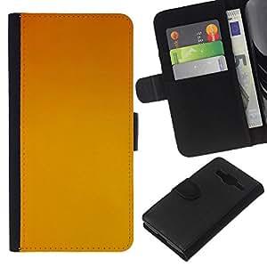 Planetar® Modelo colorido cuero carpeta tirón caso cubierta piel Holster Funda protección Para Samsung Galaxy Core Prime / SM-G360 ( Yellow background )