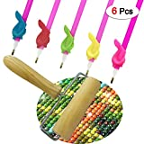 5D Diamond Painting Tools Including Diamond Painting Wood Roller & Pen Grips for DIY Diamond Art Kits for Adults (6 Packs)