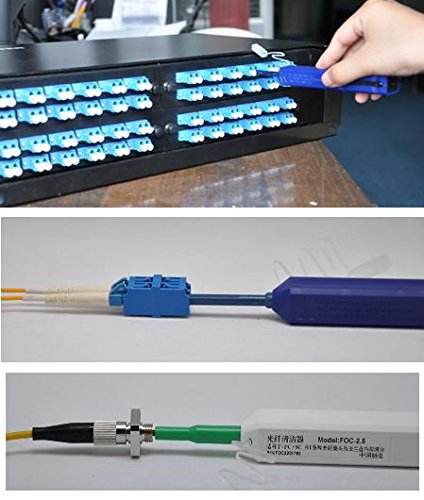 Optical Fiber Communication tools one Click 1.25mm LC Connector Fiber Optic Cleaner and LC MU Optical Fiber Cleaning Pen