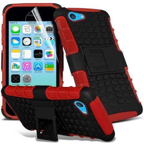 Apple iPhone 5c Shockproof Case Cover (Red) Plus Free Gift, Screen Protector and a Stylus Pen, Order Now Best Valued Phone Case on Amazon! By FinestPhoneCases