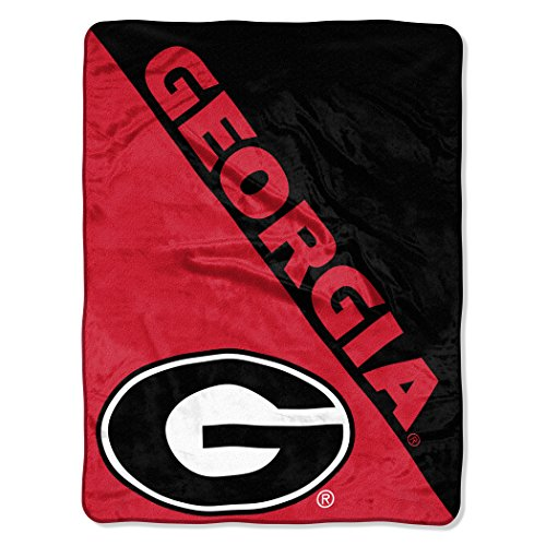 - The Northwest Company Officially Licensed NCAA Georgia Bulldogs Halftone Micro Raschel Throw Blanket, 46