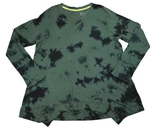 Tie Dye Waffle - Calvin Klein Performance Plus Size Waffle Knit Tie Dye Athletic Top (Vine Combo, 2X)