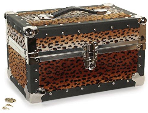 (Gilbin Summer Camp and College Dorm Mini Storage Trunk Organizer Keepsake Box Treasure Chest Footlocker Size 14