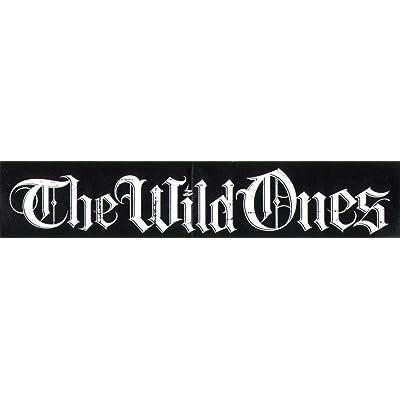 The Wild Ones Skateboard Autocollant–Noir–12.5cm de large Environ MX Motocross Moto X Neuf SK8