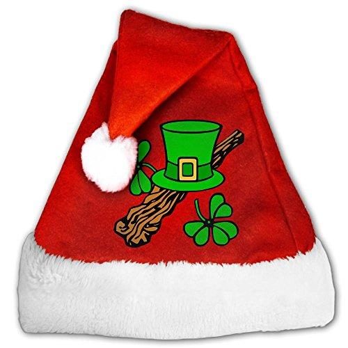 JYDPROV Ireland Irish Shamrock Christmas Santa Hat Irish Santa Hat