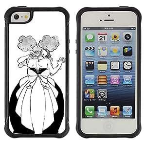 Be-Star único patrón Impacto Shock - Absorción y Anti-Arañazos Funda Carcasa Case Bumper Para Apple iPhone 5C ( Dance Man Woman Funny Alcohol Ball )